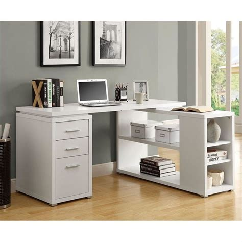 l shaped computer desk white l shaped computer desk in white i 7023