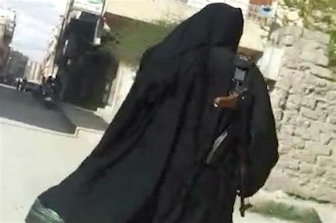 two bethnal green schoolgirls now married to isis men in british jihadi brides spotted totting ak47 in syria