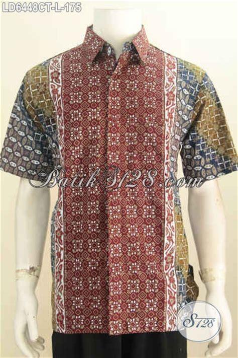 desain baju batik pria elegan hem batik elegan desain keren motif bagus dengan paduan