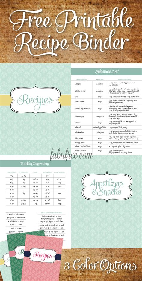 recipe binder kit printables navy recipe book recipe