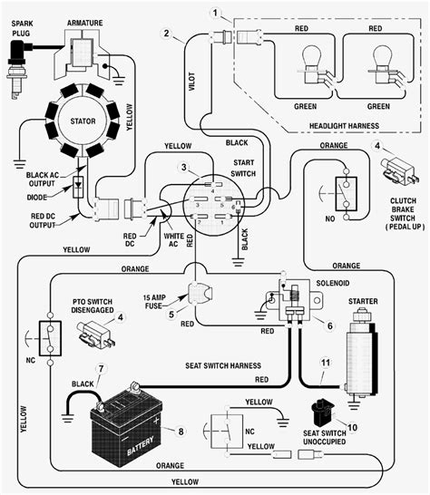 craftsman lawn mower ignition switch wiring diagram