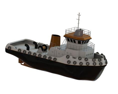 tugboat dwg tug boat 3d cad model library grabcad