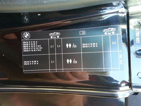 Bmw 1er Coupe Reifendruck 187 bmw z4 reifendruck der sommerreifen
