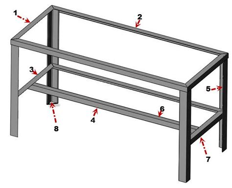 metal bench plans how to build metal workshop bench plans plans woodworking