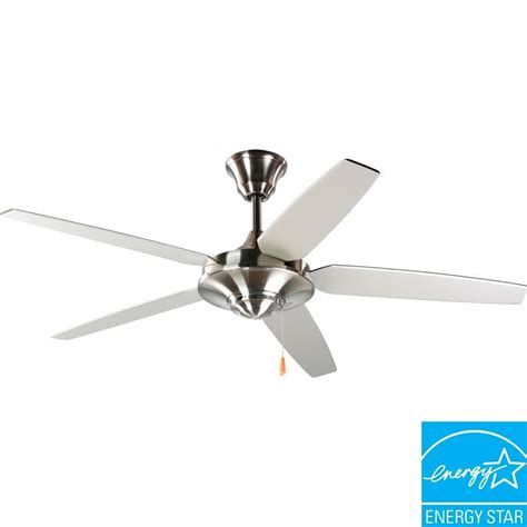 Progress Lighting Ceiling Fans Progress Lighting Airpro Signature 54 In Brushed Nickel Ceiling Fan P2530 09 The Home Depot
