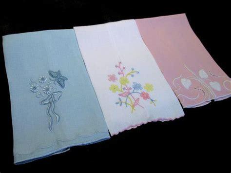 vintage pattern towels 3 marghab fingertip towels 3 different vintage madeira