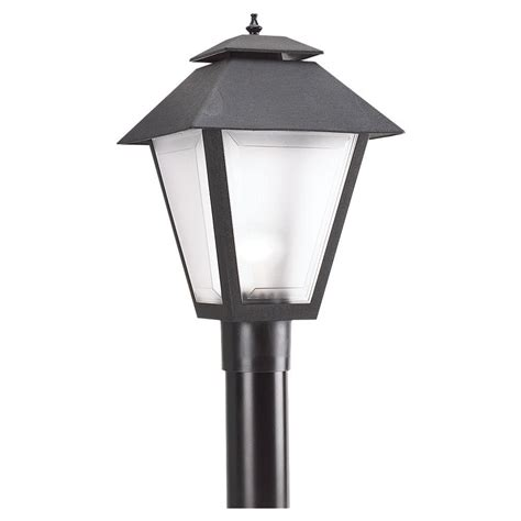 L Post Lighting Fixtures Sea Gull Lighting Outdoor Post Lanterns Collection 1 Light Outdoor Black Post Light With Frosted