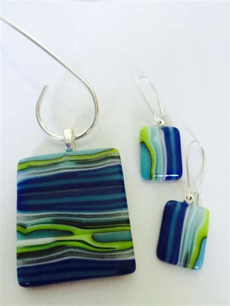 Handmade Fused Glass - go different with style by using glass jewelry for your