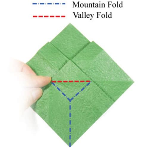 What Is A Valley Fold In Origami - how to make a origami leaf page 19