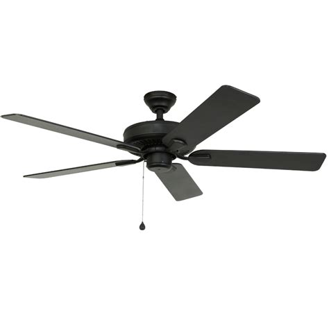 Lowes Outdoor Ceiling Fans by Shop Harbor Classic 52 In Matte Black Outdoor