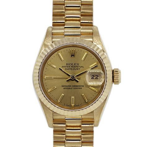 golden rolex rolex 6917 18k yellow gold ladies presidential watch