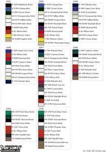 integra color codes page 2 clubintegra com acura