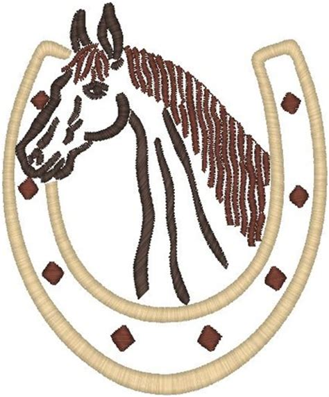 embroidery design horse free hirsch free embroidery design horse in horseshoe 5 39