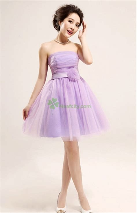 aquellacanciondelos80 light purple strapless bridesmaid