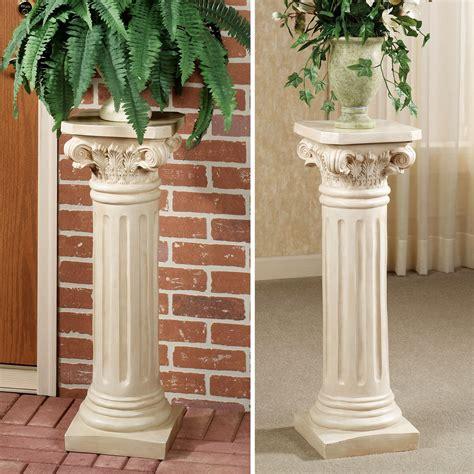 classic roman column pedestal ideas   house