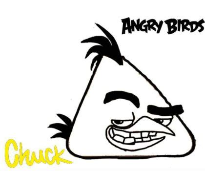 angry birds chuck coloring page coloring pages by angrybirdstiff on deviantart