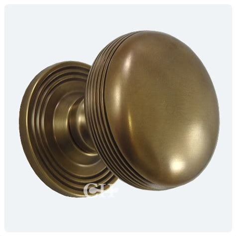 Samuel Heath Door Knobs by Samuel Heath P2134 Reeded Centre Door Knobs In Brass