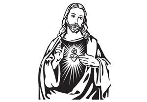 black and white drawings of jesus free download clip art