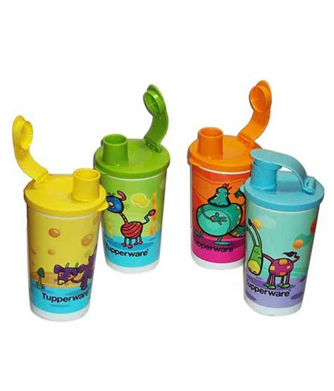 tupperware thermos flask 350 ml tupperware multicolour 350 ml thermos pack of 4 buy