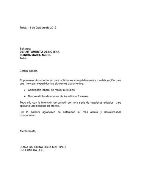 como solicitar una certificacion en bancolombia carta de solicitud certificados laborales