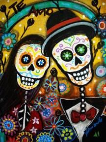 Sugar Skull Duvet Cover Wedding Dia De Los Muertos By Pristine Cartera Turkus