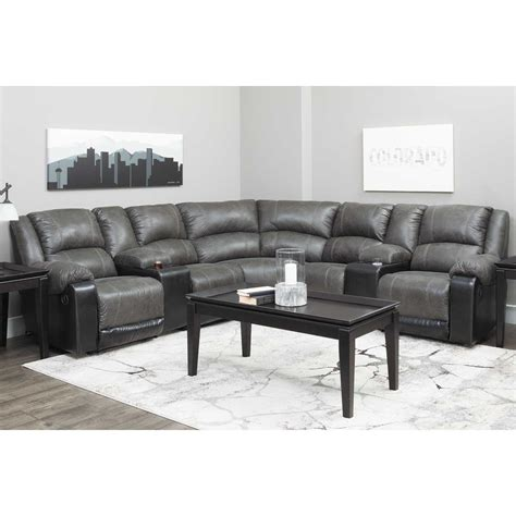 Afw Sectional by 7pc Slate Reclining Sectional 50301 40 41 57 19 77 46 57