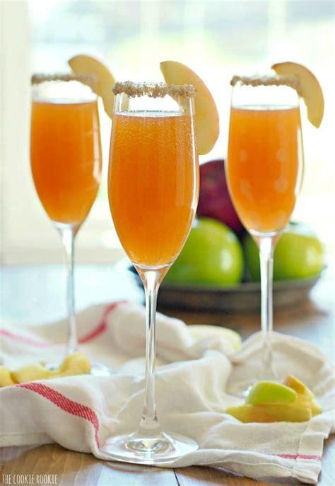 apple cider mimosas recipe celebrate thanksgiving