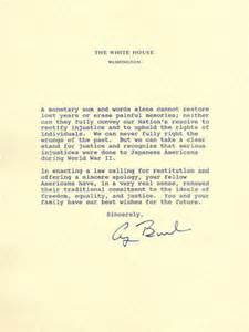 Japanese Business Apology Letter Historic Documents Manzanar National Historic Site U S