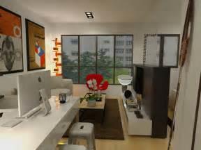 Flat Decoration by Designfantastico Fernvale Riverwalk 2 Room For Singles