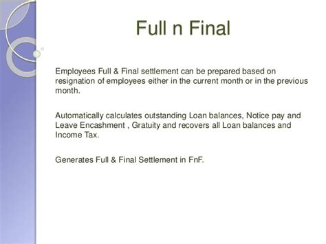 sle employee full and final settlement letter letter