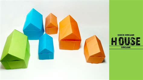 How To Make A Paper House Easy - how to make a paper house easy make origami house how to