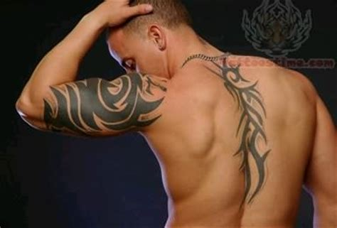 tattoo back muscle tribal tattoo on muscles and back