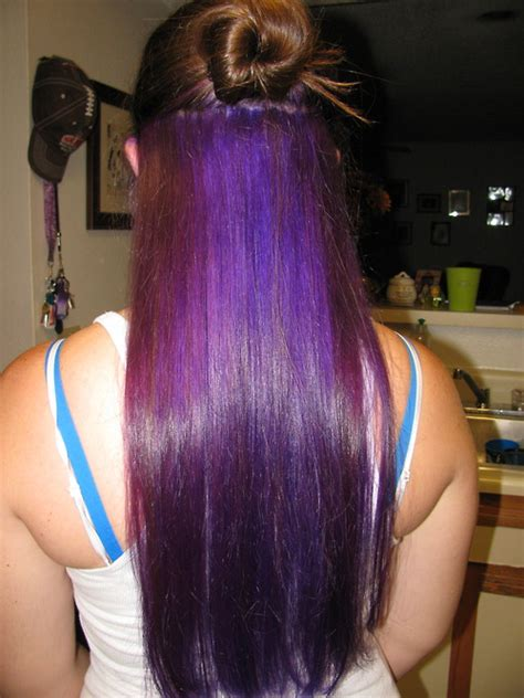 long hairstyles with color underneath purple underneath beautious pinterest see more