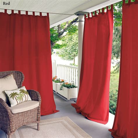 indoor outdoor drapes matine indoor outdoor tab top curtain panels