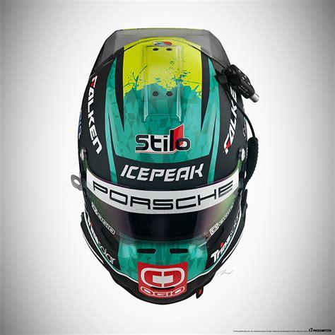 design car helmet porsche 911 rsr livery design on behance