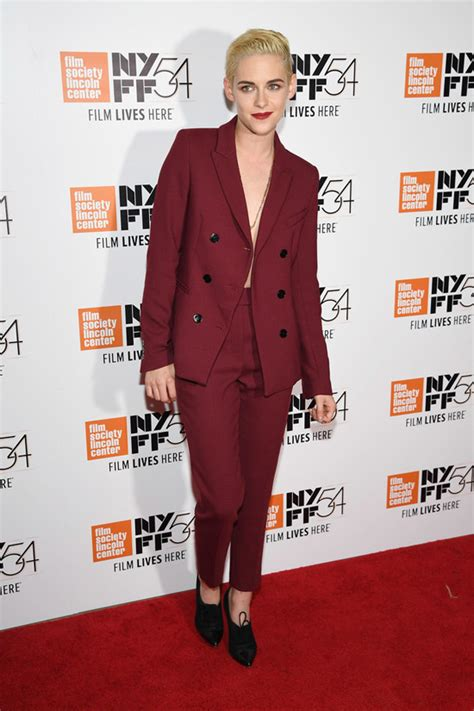 Shaves Now The Carpet Really Does Match The Drapes by Kristen Stewart In Sandro At The 2016 New York
