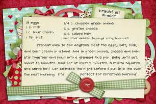 Free Christmas Recipe Card Template Recipe Christmas Morning Breakfast Omelet Pinching Your