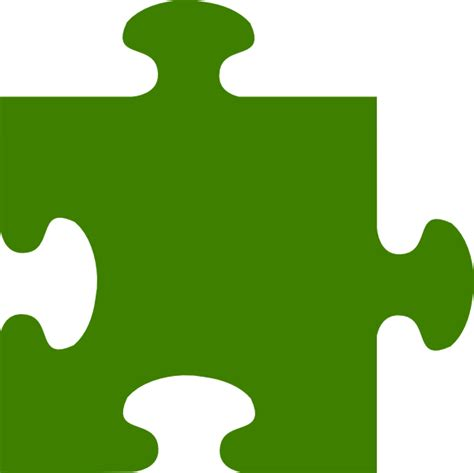 Puzzle L by Green Puzzle Clip At Clker Vector Clip