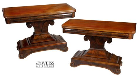 the table in philadelphia a pair of large mahogany classical card tables