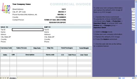 Commercial Receipt Template by Commercial Invoice Template Invoice Software
