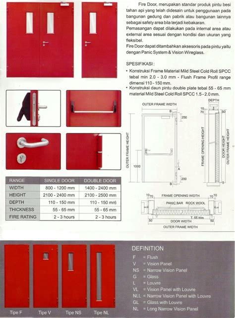 Lu Emergency Merk Apa daftar harga jual penjual supplier ukuran spesifikasi ketebalan pintu besi door emergency