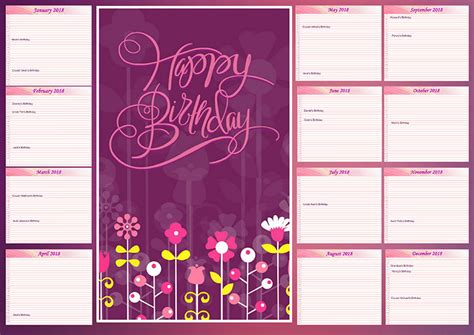 make your own birthday calendar how to make a birthday calendar with pictures