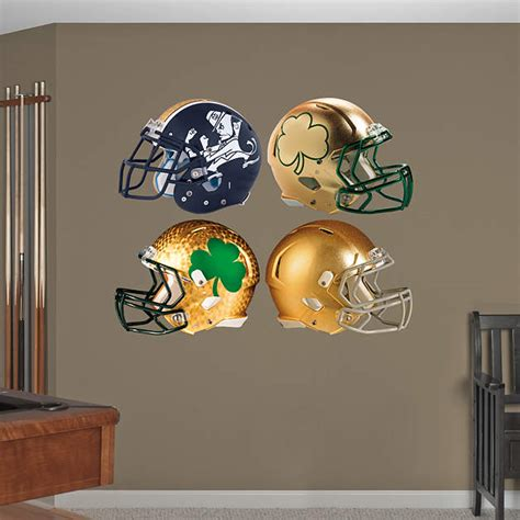Notre Dame Room Decor by Notre Dame Fighting Helmet Collection Wall Decal