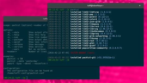 wann wurde windows installiert pachist zeigt unter arch linux wann welches paket aus der
