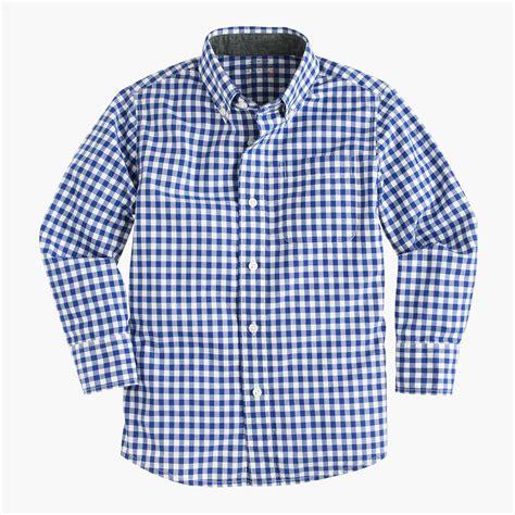 boys shirts secret wash shirt in gingham boys shirts j crew