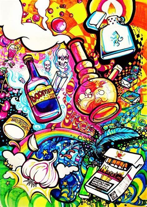 what to but a hippie fir christmas marijuana stoner colorful venomouzv
