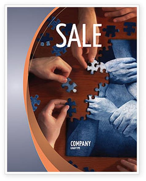 Team Building Puzzle Sale Poster Template In Microsoft Word Publisher And Adobe Illustrator Team Building Poster Template