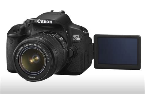 Kamera Canon Touchscreen canon unveils eos 650d dslr with touch screen lcd