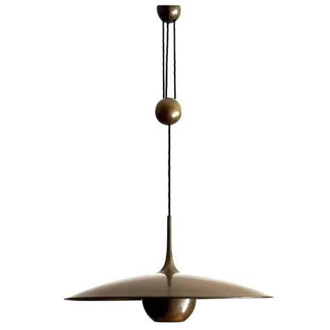 Counterweight Pendant Light Large Adjustable Counterweight Pendant L Matte Brushed Brass Florian Schulz At 1stdibs