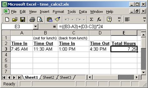ms to hour ms excel 2003 perform time calculations exle 2